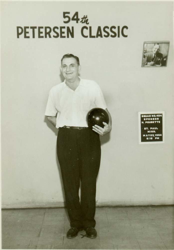 "Joe ""Corby"" Crnobrna at the 1964 Petersen Bowling Classic Tournament"